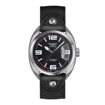 Aviator Swiss Gent's Limited Edition Automatic Watch Sellita SW200 Movement with Luxury Display Box and Interchangeable Strap