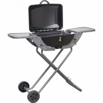 Crusader Portable Propane/Butane Folding Gas Barbecue With Wheels & Handle