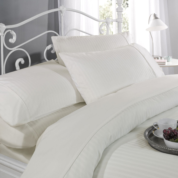 Dorchester Ritz T300 Satin Stripe Duvet Set (Super King)