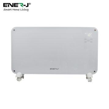 Ener-J WiFi Smart Heater 2000W, White Tempered Glass