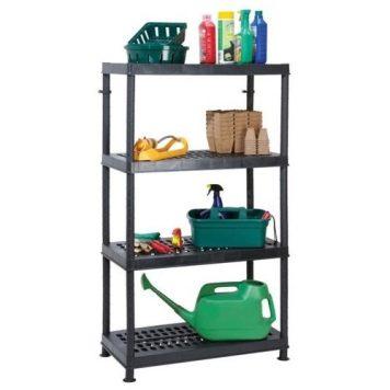 Garland Self Assembly Ventilated Plastic Shelving Unit - 4 Shelf