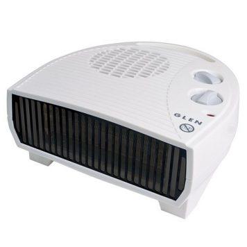 Glen 3kW Electric Flat Fan Heater - White