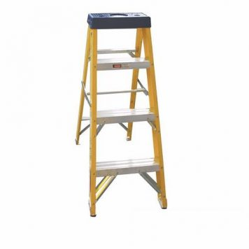 Greenbrook Fiberglass Aluminium Industrial Electricians Extension Folding Ladder - 4 Step