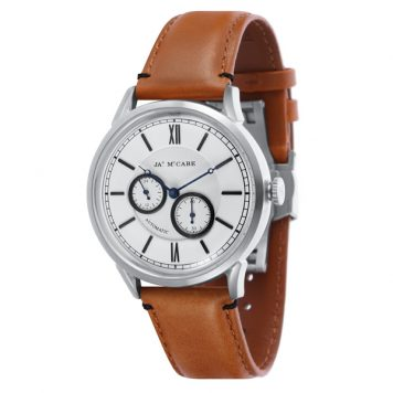 James McCabe Gent's Automatic Multi-function Heritage Watch with Genuine Leather Strap