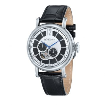 James McCabe Gent's Automatic Multi-function Lurgan Watch with Genuine Leather Strap