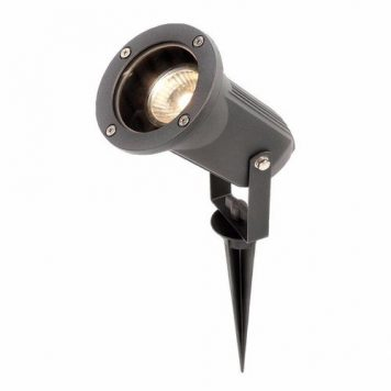 KnightsBridge 50W GU10 IP54 Adjustable Spike & Wall Garden Light