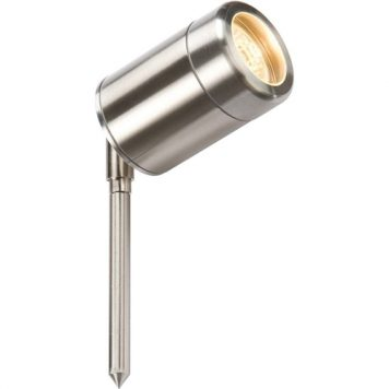 KnightsBridge GU10 35W Garden Spike Light - Stainless Steel