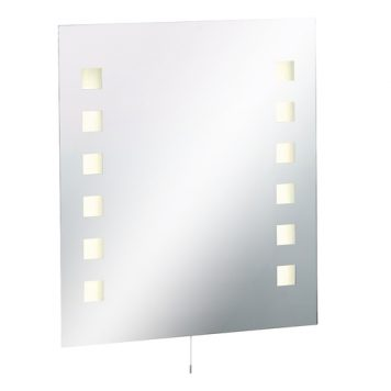 KnightsBridge IP44 Rectangular Bathroom Mirror with Dual Voltage Shaver Socket