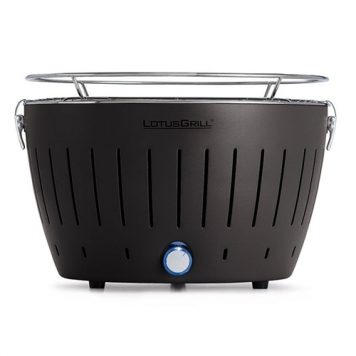 LotusGrill Standard Charcoal Barbecue With Fan Grill (2019 Model) - Anthracite Grey