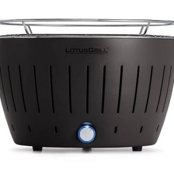 LotusGrill Standard Charcoal Barbecue With Fan Grill - Anthracite Grey