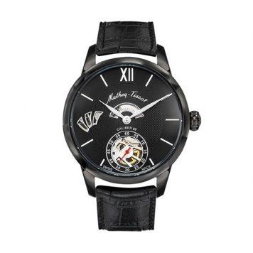 Mathey-Tissot Gent's Edmond Limited Edition 1886 Calibre 98 Watch with IP Plated Black Case, Genuine Leather Strap, Luxury Display Box & Pen
