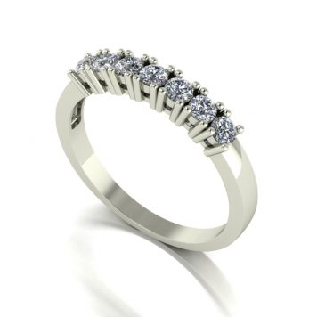 Moissanite 9ct Gold 0.50ct eq 7 Stone Ring