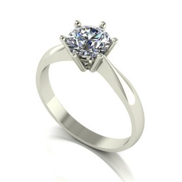 Moissanite 9ct Gold 1.00ct eq Finesse Solitaire Ring