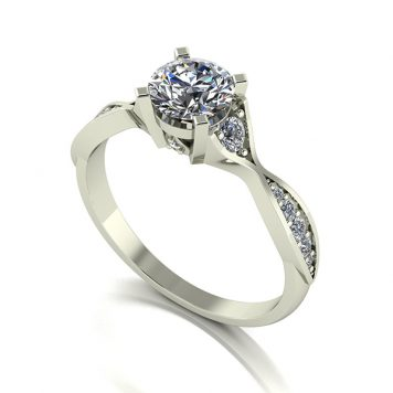 Moissanite 9ct Gold 1.00ct eq Limited Edition Anniversary Fancy Solitaire Ring