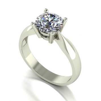 Moissanite 9ct Gold 1.50ct eq Solitaire Ring