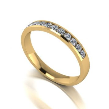Moissanite 9ct Gold 33 Point Channel Set Eternity Ring