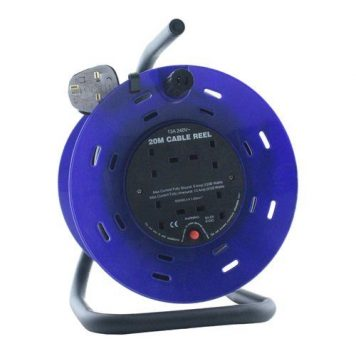 Pro-Elec 20M 4G Extension Reel on Metal Frame