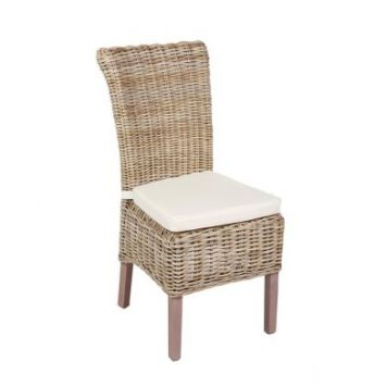 Rivera Willow Wicker Chair & Cushion