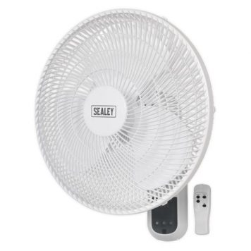 """Sealey 16"""" 3 Speed Wall Fan with Remote Control"""