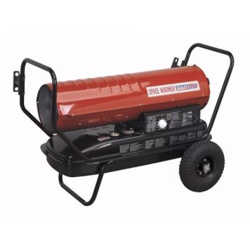 Sealey Portable Space Warmer Diesel Heater 100kBtu/hr with Wheels