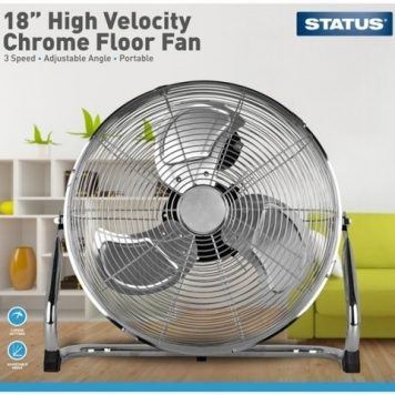 Status 18 Inch Chrome Floor Fan