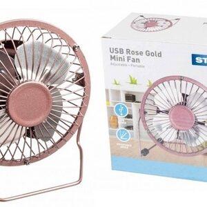"Status 4"" Mini USB Fan - Rose Gold"