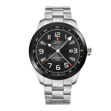 Swiss Military by Chrono Gent's Limited Edition (to 300pcs) Automatic ETA 2893-2 Dual Time Watch with Stainless Steel Bracelet