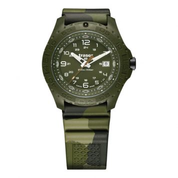 Traser Gent's Swiss P96 Soldier Watch with Camouflage Silicone Strap
