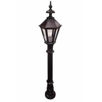 Zexum 4Ft Traditional Black Garden Street Light