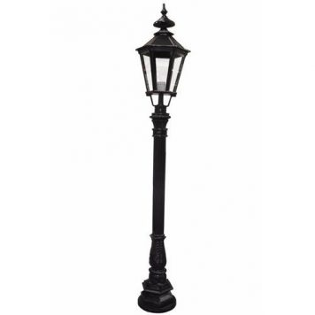 Zexum 6Ft Traditional Black Garden Street Light