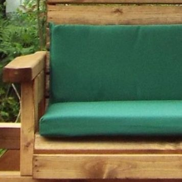 Charles Taylor Garden Chair Rocker With Green Cushion