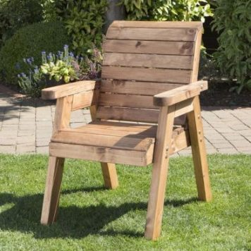 Traditional Scandinavian Redwood Garden Chair