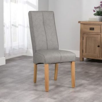 Milan Dining Chair Grey & Faux Leather