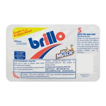 Mr Muscle Brillo Pads Multi Use Soap Pads 5 Pack