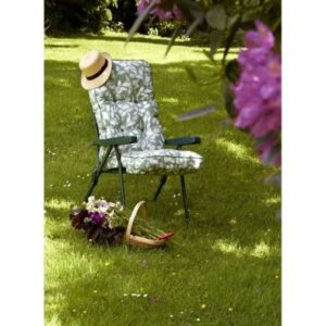 Glendale Deluxe Repose Stripe Recliner Chair Sage