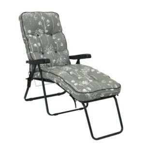 Glendale Deluxe Slumber Floral Lounger Chair Grey