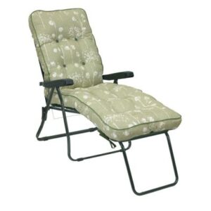 Glendale Deluxe Slumber Floral Lounger Chair Sage