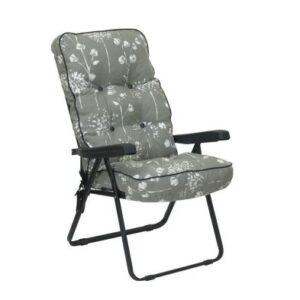 Glendale Deluxe Slumber Floral Recliner Chair Grey