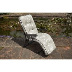 Glendale Deluxe Slumber Floral Relaxer Chair Grey