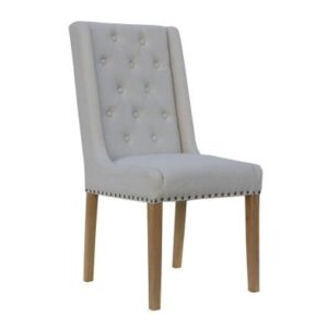 Lancelot Button Back and Studded Dining Chair Natural