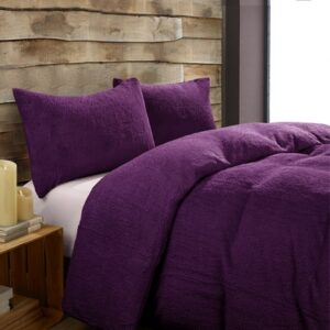 Toastie Aubergine Double Duvet Set