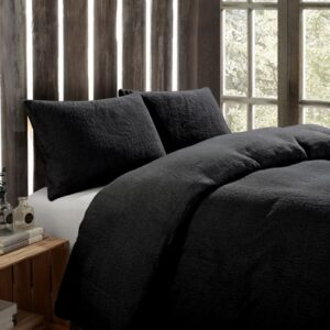 Toastie Black Single Duvet Set