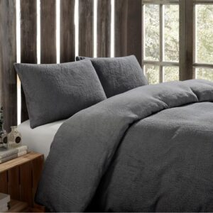 Toastie Charcoal Double Duvet Set
