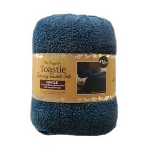 Toastie Navy Single Duvet Set