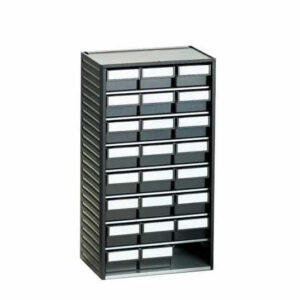 12 Drawer 59h x 92w x 175d Polypropylene ESD Small Parts Cabinet