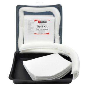 15 Litre Oil Spill Kit with 52cm x 52cm flexi tray