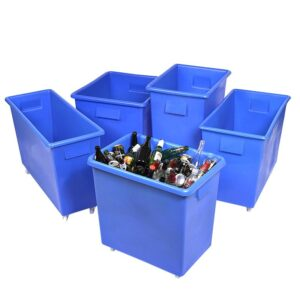 165ltr Mobile Bar Trolleys polyethylene 45kg capacity 620 x 820 x 455