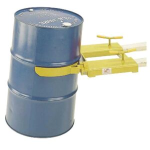 210 Litre Single Drum Clamp forklift attachment Orange