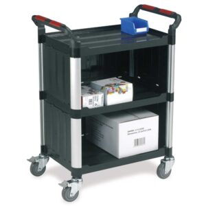 3 Shelf Standard Trolley with Enclosed Sides and Back
