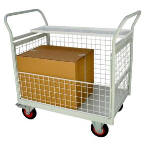 3 and a Half Sided Mailroom Trolley 830 x 600 x 1200